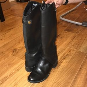 Comfy BARELY WORN faux Leather Boots w Size 9
